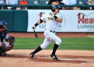 Jake Cave was acquired via the Rule 5 Draft, can he be an impact performer in Cincinnati? (Photo by YES Network)